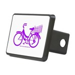 Purple Bike with Basket Rectangular Hitch Cover