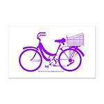 Purple Bike with Basket Rectangle Car Magnet