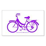 Purple Bike - Awesome! Sticker (Rectangle)