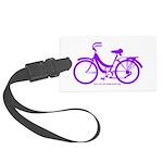Purple Bike - Awesome! Large Luggage Tag
