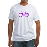 Purple Bike - Awesome! Fitted T-Shirt