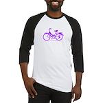 Purple Bike - Awesome! Baseball Jersey