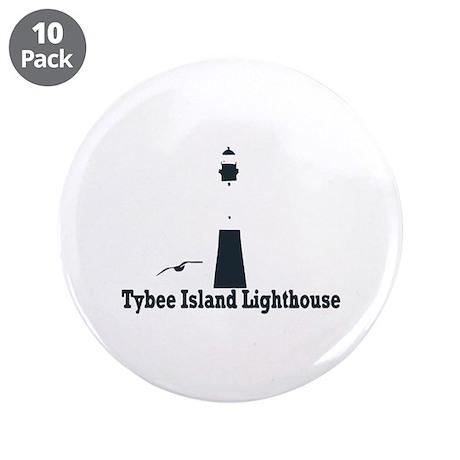 "Tybee Island GA - Lighthouse Design. 3.5"" Button ("