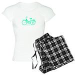 Teal Bicycle Sans basket Women's Light Pajamas