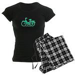 Teal Bicycle Sans basket Women's Dark Pajamas