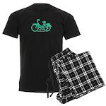 Teal Bicycle Sans basket Men's Dark Pajamas