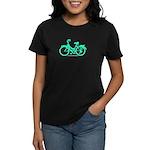 Teal Bicycle Sans basket Women's Dark T-Shirt