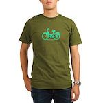 Teal Bicycle Sans basket Organic Men's T-Shirt (da