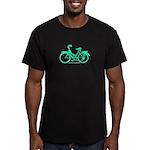 Teal Bicycle Sans basket Men's Fitted T-Shirt (dar