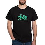 Teal Bicycle Sans basket Dark T-Shirt