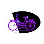 Bicycling Cyclists Oval Car Magnet