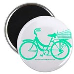 Cycling Cyclists - Teal Bike Magnet