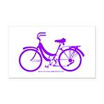 Purple Bike - Awesome! Rectangle Car Magnet