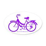 Purple Bike - Awesome! Oval Car Magnet