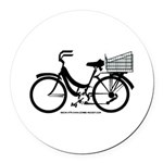 Bicycle Design With Basket Round Car Magnet