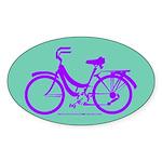 Bike Design 80s/90s Colors Sticker (Oval)