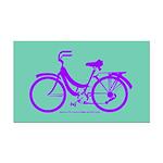 Bike Design 80s/90s Colors Rectangle Car Magnet