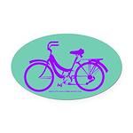 Bike Design 80s/90s Colors Oval Car Magnet