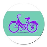 Bike Design 80s/90s Colors Round Car Magnet