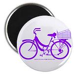 Purple Bike with Basket Magnet