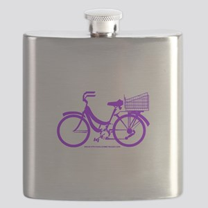 Purple Bike with Basket Flask
