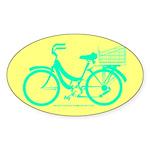 70s/80s Colours Bike Sticker (Oval)