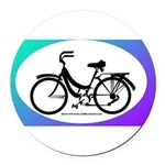 Bicycle Decal Round Car Magnet