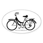 Bike Design Sans Basket Sticker (Oval)