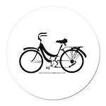 Bike Design Sans Basket Round Car Magnet