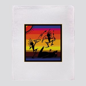 Native Cave Art Throw Blanket