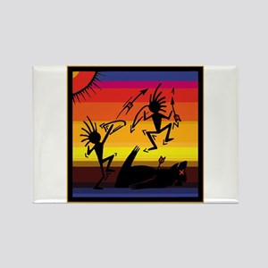 Native Cave Art Rectangle Magnet