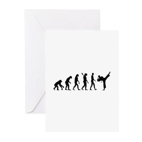 Evolution Karate kickboxing Greeting Cards (Pk of