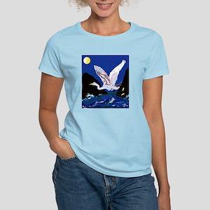 White Crane Spreads Its WIngs Women's Light T-Shir