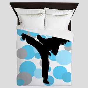 Martial Arts Female Queen Duvet