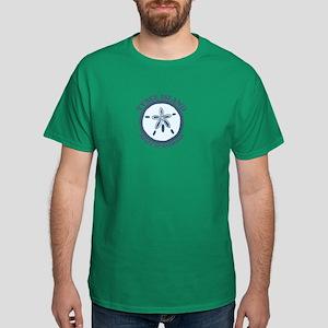 Tybee Island GA - Sand Dollar Design. Dark T-Shirt