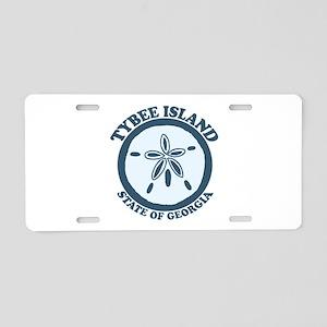 Tybee Island GA - Sand Dollar Design. Aluminum Lic