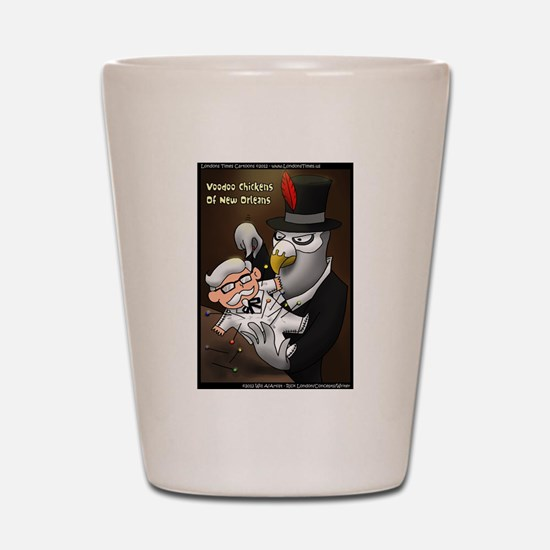 Voo Doo Chickens Of New Orleans Shot Glass
