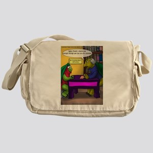 Turtle In Therapy Messenger Bag