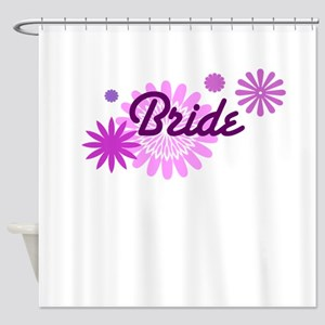 Bride With Flowers Shower Curtain