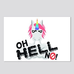 Emoji Oh Hell No Unicorn Postcards (Package of 8)