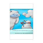 Vegam Snowman Mini Poster Print