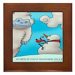 Vegam Snowman Framed Tile