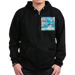 Vegam Snowman Zip Hoodie (dark)