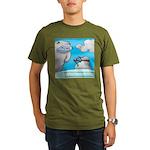 Vegam Snowman Organic Men's T-Shirt (dark)
