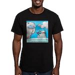 Vegam Snowman Men's Fitted T-Shirt (dark)