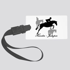 Hunter Jumper Trio Script Large Luggage Tag