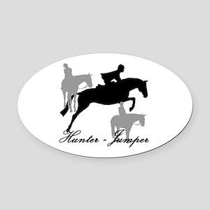 Hunter Jumper Trio Script Oval Car Magnet