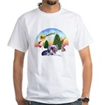 TakeOff-Crested #9 White T-Shirt