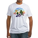 TakeOff-Crested #9 Fitted T-Shirt