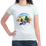 TakeOff-Crested #9 Jr. Ringer T-Shirt